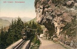 LUNGER SCHNEIDGUTSCH CHEMIN DE FER TRAIN LOCOMOTIVE TRANSPORT SUISSE - OW Obwalden