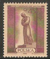 Poland 1955 Mi# 912 ** MNH - Warsaw Monuments / Marie Sklodowska Curie / Nobel Prize - Premio Nobel