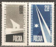 Poland 1958 Mi# 1061-1062 ** MNH - Intl. Geophysical Year / Polar Bear / Space - International Geophysical Year
