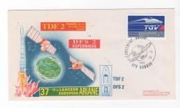 LETTRE / ESPACE - FRANCE - ARIANE  44  V37  - 24/07/1990 - Europe