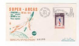 LETTRE / ESPACE - FRANCE -  SUPER ARCAS  - 29/05/1974 - Europe