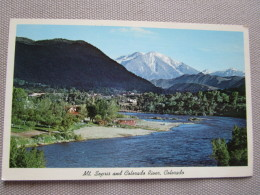 Mt. Sopris And  This Colorado River Valley Scene Is Near Glenwood Springs..... - Etats-Unis