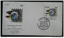 Libya 2013 FDC - National Stamp Exhibition - Butterfly - Libië
