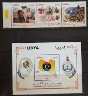 L21 - Libya 2012 MNH Complete Set 3v. In One Pane + S/S - 1st Anniv Of The Revolution - Libya