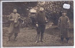 SAINT-LO-- CARTE-PHOTO-- BRAVES MILITAIRES EN 1915- RECT/VERSO - Saint Lo