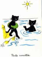 ILLUSTRATEUR    ILL  431  /   BIZ  ED MARCEL VAYSSE /  LES CHATS  / CATS     N° 60      CPM / CPSM  10 X 15 Neuve - Autres Illustrateurs