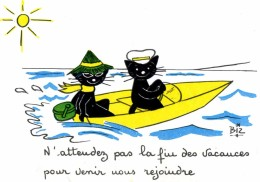 ILLUSTRATEUR    ILL  431  /   BIZ  ED MARCEL VAYSSE /  LES CHATS  / CATS     N° 68      CPM / CPSM  10 X 15 Neuve - Autres Illustrateurs