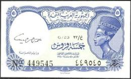 EGYPT P. 180d 5 Ps 1967 UNC - Egypt