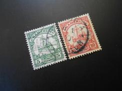 D.R.21+22a  5+10Pf   Deutsche Kolonien ( Kamerun ) 1905 - Colony: Cameroun