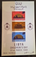 L21 - Libya 1964 Mi. Block 5 MNH S/S - Children's Day - Libië