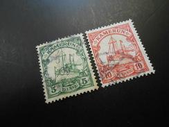 D.R.21+22b  5+10Pf   Deutsche Kolonien (Kamerun) 1905 - Colony: Cameroun