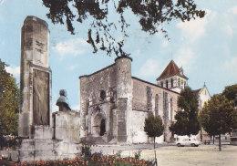 Bc - Cpsm Grand Format MEZIN - L'Eglise Et Le Monument Du Président Armand Fallières - France