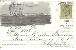 PORTUGAL - LEIRIA - RECORDAÇÃO DA FIGUEIRA DA FOZ - VISTAA - (Ed. Costa & Cª) - Leiria