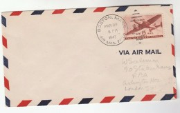 1947 USA FLIGHT COVER BOSTON To GB Aviation Stamps - Airplanes
