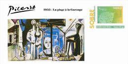 Spain 2013 - Picasso Collection Prepaid Cover - 1955 - La Plage à La Garoupe - Enteros Postales