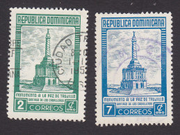 Dominican Republic, Scott #458-459, Used, Monument To The Peace Of Trujillo, Issued 1954 - Dominicaanse Republiek