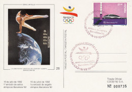 OLYMPISCHE SPIELE-OLYMPIC GAMES, BARCELONA 1992, Special Stamp / Postmark !! - Summer 1992: Barcelona