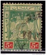 Malaya Kelantan, 1911-15, 5c, Scott# 4, Used - Kelantan