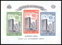Haiti, 1960, United Nations, 15th Anniversary, MNH Imperforated, Michel Block 20 - Haití
