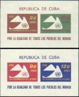 Cuba, 1961, United Nations, 15th Anniversary, MNH, Michel Block 20-21 - Cuba