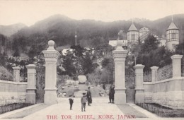Kobe Japan, Tor Hotel, Lodging, People At Gate, C1900s Vintage Postcard - Kobe