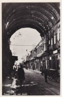 Damas Damascus, The Straight Street, Shops And Tunnel, C1920s/30s Vintage Postcard - Syria