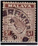 Malaysia, Negi Sembilan, 1935, Coat Of Arms, 5c, Scott# 24, Used - Negri Sembilan