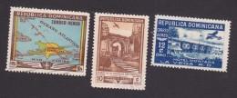 Dominican Republic, Scott #C62, C71, C75, Used, Map, Ruins, Hotel, Issued 1948-50 - Dominikanische Rep.