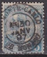 Monaco 1891-94 Prince Albert 1e 5 C. Bleu  Y&T 13 - Monaco