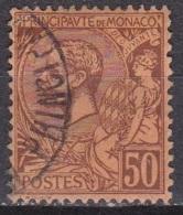 Monaco 1891-94 Prince Albert 1e 50 C. Lilasbrun Sur Orange Y&T 18 - Monaco