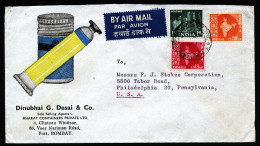 A4198) India Indien Advertising Cover From Bombay To US - 1950-59 Republik