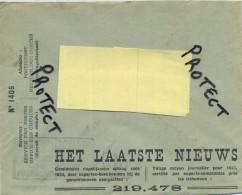 Old Envelope With Publicité : HET LAATSTE NIEUWS GAZET : Verso Emplacement Libre ........ - Entiers Postaux