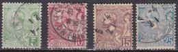 Monaco 1901 Prince Albert 1e Serie Complete Y&T 22 / 25 Obliteré - Monaco