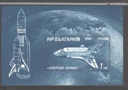 Bulgaria 1988 MNH Buran S/s - Space
