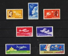 1960 -  Journee De L Aviation Y&T No P.A.  111/117 Et  Mi No 1861/1867 MNH - 1948-.... Republiken