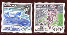 Monaco 1811 1812 JO D´albertville Neuf ** TB  MNH Sin Charnela Faciale 2.30 - Monaco