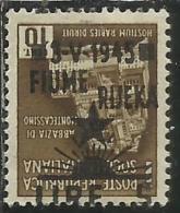 OCCUPAZIONE ITALIANA ITALIAN OCCUPATION FIUME 1945 LIRE 5 SU CENT. 10 C. VARIETA´ VARIETY MNH