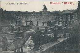 La Gileppe - Le Déversoir - Publicité Chocolat Hardy - Circulé En 1907 - TBE - Jalhay
