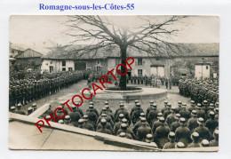 ROMAGNE SOUS LES COTES-Revue Militaire-Animation-CARTE PHOTO Allemande-Guerre 14-18-1 WK-FRANCE-55-Feldpost- - Autres Communes