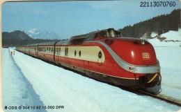 Phonecards - Countries > Germany > [1] Phonecards> O-Series :ODS O 304 10.92 15 000 DPR.motive Train,Locomotive,Railway. - Germany