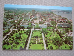 South View From Louisiana Capitol Showing The Beautifully Landscaped Front Gardens And Downtown Baton Rouge.... - Baton Rouge