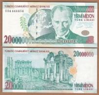 AC - TURKEY - 7th EMISSION 20 000 000 TL G 54 4444 54 UNCIRCULATED - Turchia