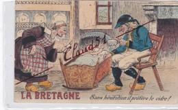 La BRETAGNE-Humour;Sans Hésitation Il Préfère Le Cidre ! (Bébé Dans Son Berceau) - Bretagne