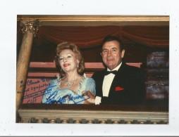 PAULETTE MERVAL ET MARCEL MERKES PHOTO DE PRESSE AVEC AUTOGRAPHES 1998 - Autographs