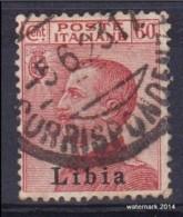 1917 /18   Italia Colonie LIBIA  Sas 19 (o) - Libya