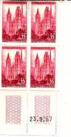 """Coins Datés YT 1129 """" Cathédrale De Rouen """" Neuf** 23/09/57 - 1950-1959"""