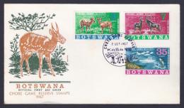- BOTSWANA , FDC 2/10/1967 . Chobe Game Reserve Stamp - Botswana (1966-...)