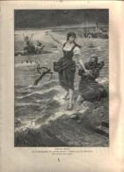 """Johanna Sebus  - Druck, Entnommen   Aus """"die Gartenlaube"""", 1897 - Revues & Journaux"""