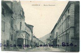 - ANDANCE - ( Ardèche ), Route Nationale, Eglise à Gauche, Non écrite, Coins Ok,  TBE, Scans. - France