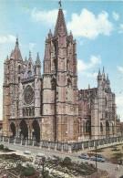 PN148 - POSTAL - LEON - FACHADA PRINCIPAL DE LA CATEDRAL - León